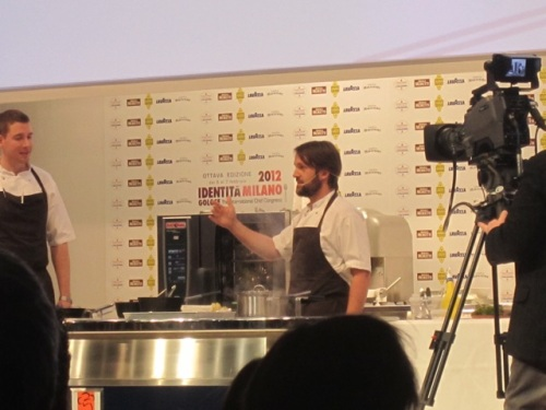 René Redzepi with his presentation 'Winter was mild'